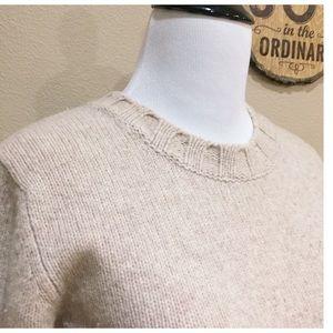 J. Crew 100% Wool Oatmeal Crewneck Sweater S